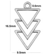 Sterling silver Inverted Triangles charm